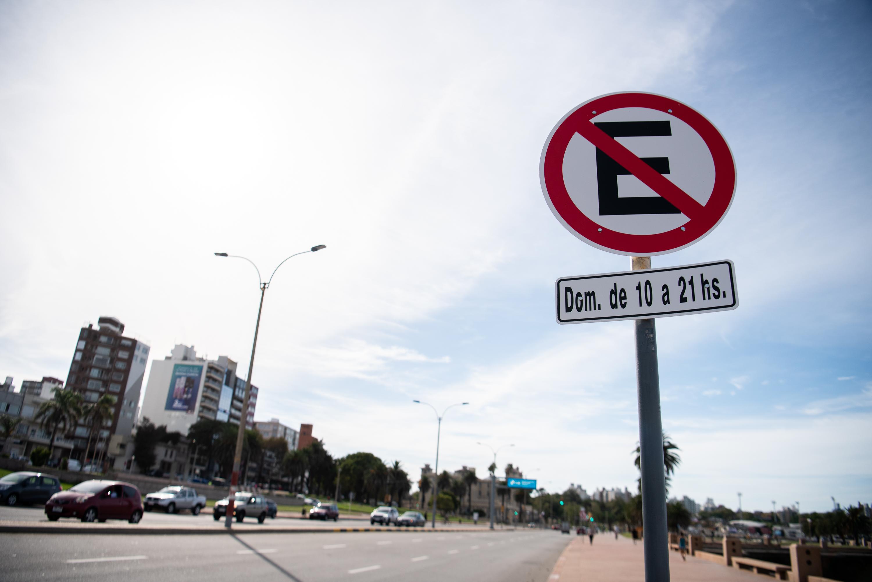 Nuevas señalizaciones de tránsito en la Rambla Sur