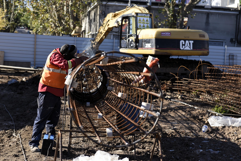 Obras del tanque de amortiguación en Terminal Goes.