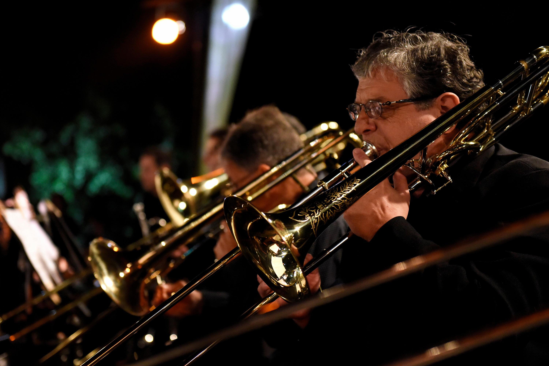 Presentación de Son del Caribe de la Banda Sinfónica de Montevideo, en el Anfiteatro Canario Luna.