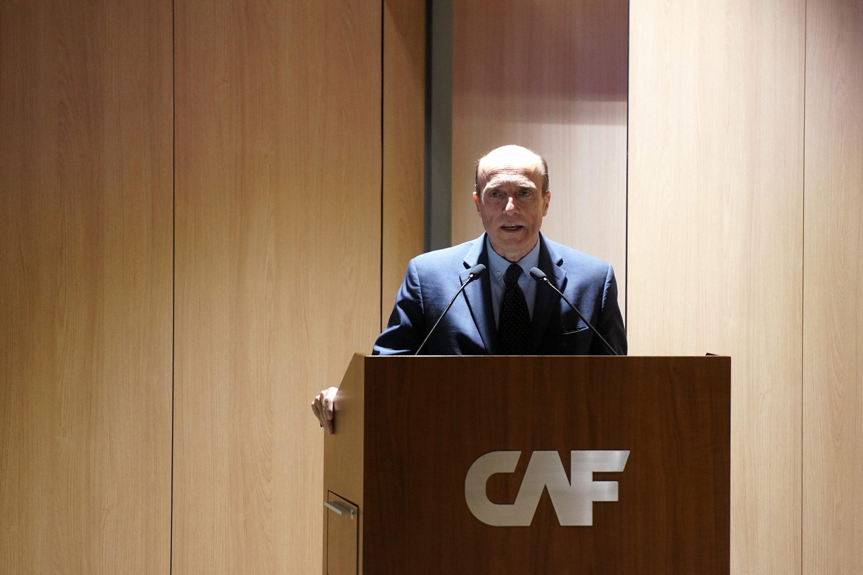 Intendente Daniel Martinez en inauguracion de sede de la CAF