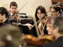 Concierto de la Orquesta Filarmonica en la Parroquia Santa María de la Ayuda.
