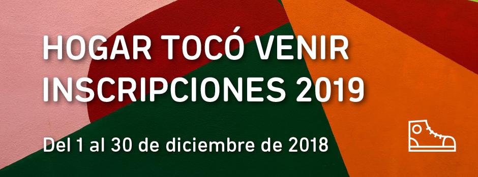 Inscripciones 2019 hogar tocó venir
