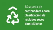 Contenedores para clasificación de residuos secos domiciliarios
