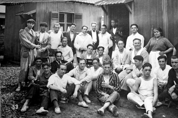Delegación uruguaya de fútbol en JJ.OO. de 1928.