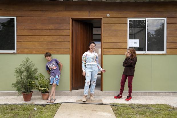 Inauguración de viviendas de Brazos Unidos