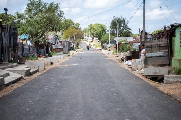Avance de obras viales en barrio Marconi por Plan ABC