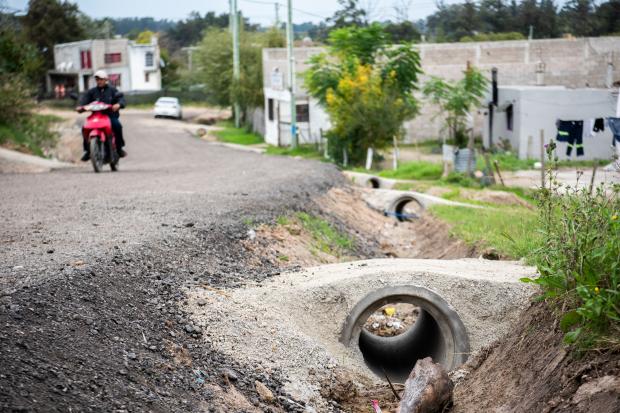 Obras de infraestructura en barrio 24 de junio en el marco del Plan ABC