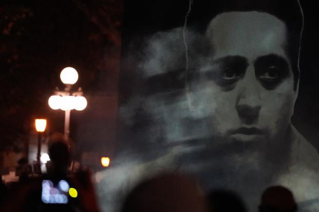 Intervención «Humo» en ocasión de la Marcha del Silencio