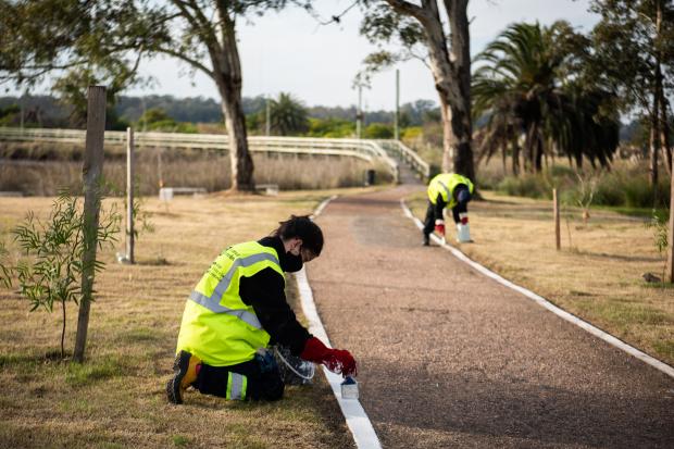 Trabajo en Humedales de Santiago Vázquez en el marco del Programa ABC Oportunidad Trabajo