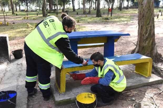 Cuadrilla de trabajo del Programa ABC Trabajo en el Parque Punta Espinillo