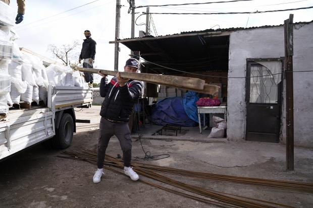 Entrega de materiales de apoyo a merendero Cancha del Rosario en el marco del Plan ABC