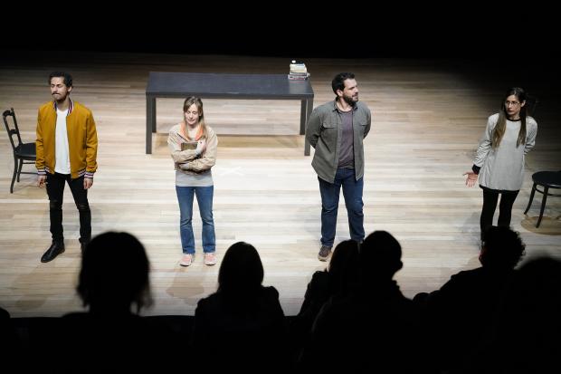 Función de la Comedia Nacional en la reapertura del Teatro Solís