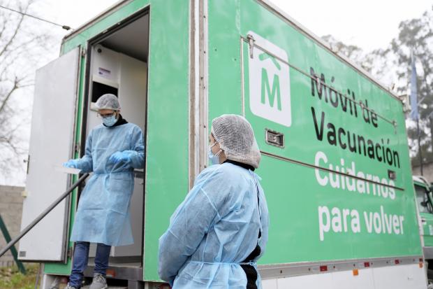 Vacunatorio móvil en Teatro de Verano «Monte de la Francesa»