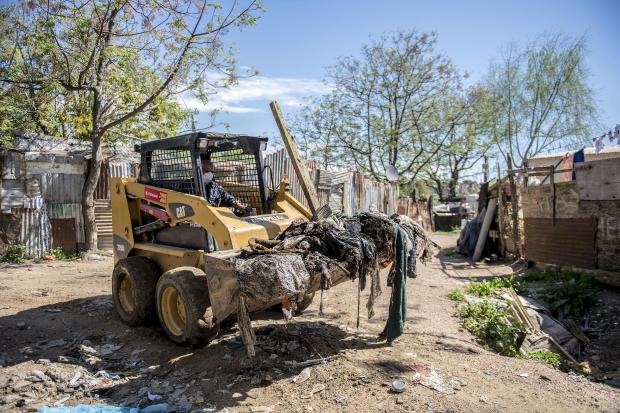 Operativo de limpieza en Isla de Gaspar