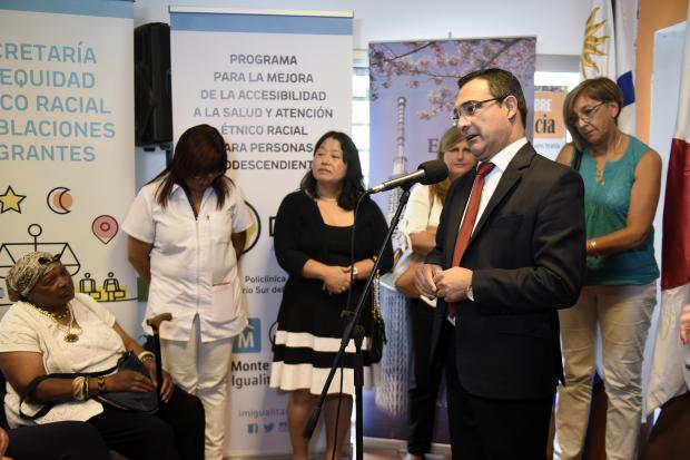 Inauguracion programa Salud Afro en la policlinica Barrio Sur