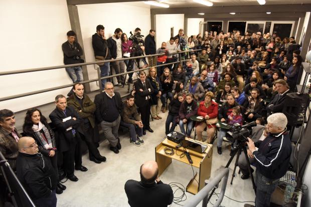 Inauguración del observatorio astronómico del liceo nº 58