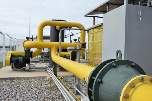Planta de captura de gas metano
