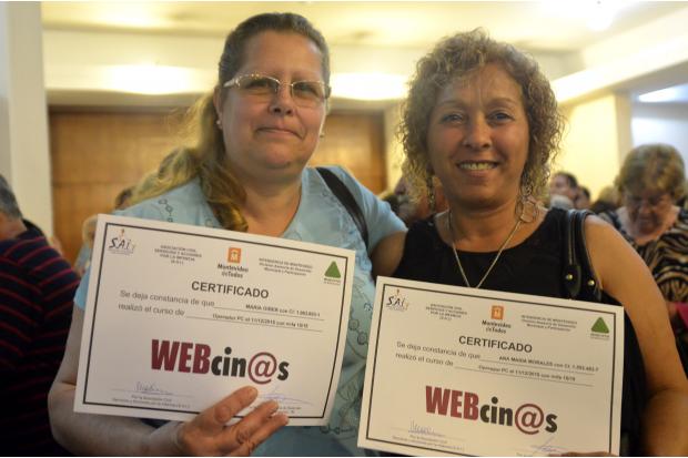 Webcinos entrega de diplomas