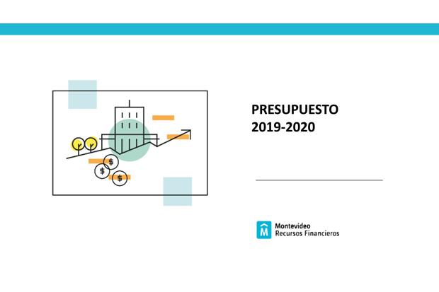 Carátula del Presupuesto 2019-2020