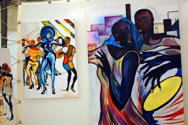 Actividad Mes Afro y Exposicion Carpa Explanada dela IM