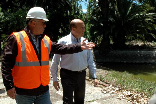 Recorrida por obras del lago Parque Rodó