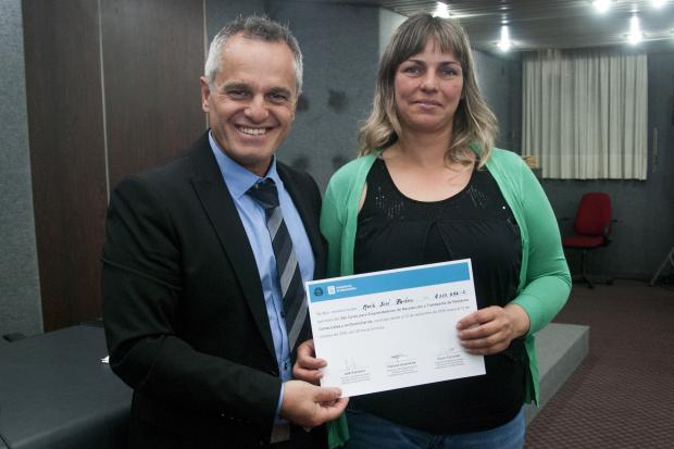 Entrega de diplomas de Curso de capacitación para transportistas de residuos comerciales y no domiciliarios.