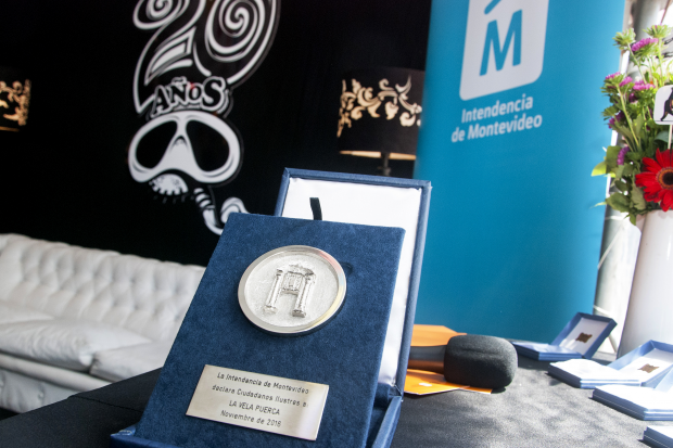 La Vela Puerca declarados Ciudadanos Ilustres de Montevideo
