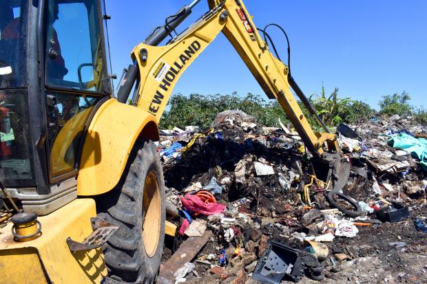 Erradicación de basural en Ameghino