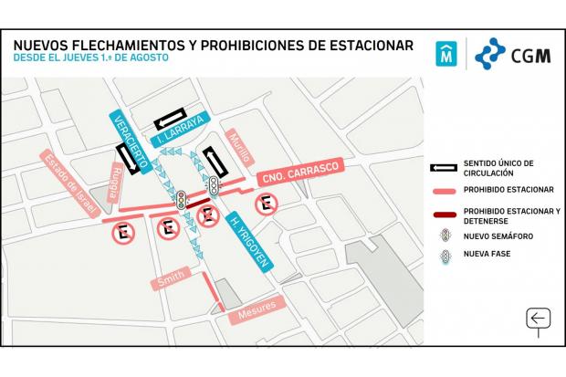 Flechamientos y prohibiciones en zona de Camino Carrasco