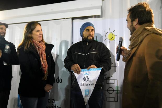 Inauguracion de obras del Programa Sali Jugando en el Club Montevideo Belgrano