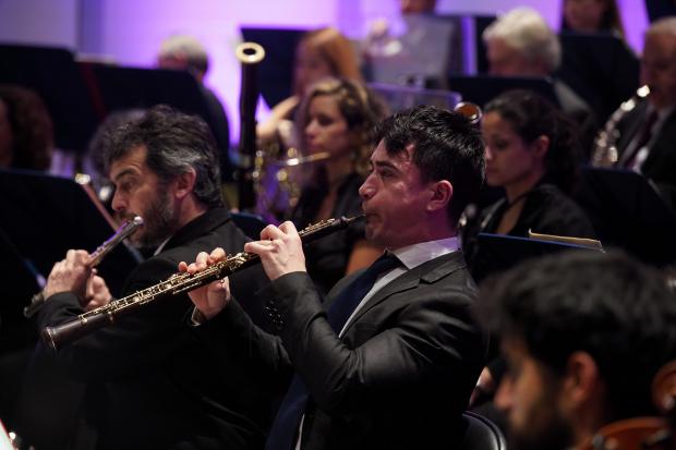 Concierto Rhapsody in blue, de la Banda Sinfonica de Montevideo, en el Teatro Solis.