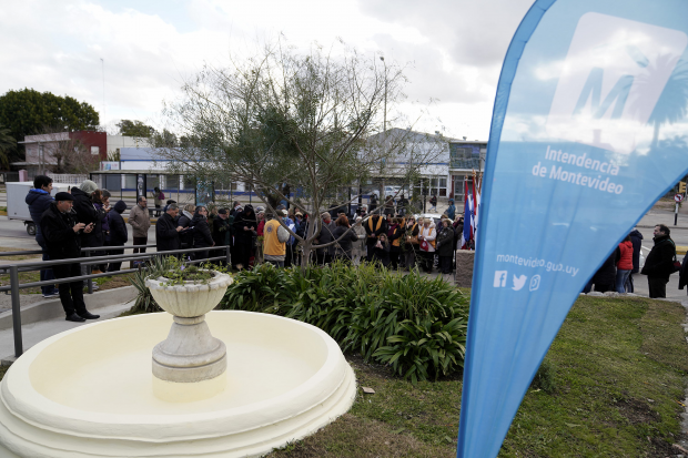 Inauguracion Fuente Delmira Agustini
