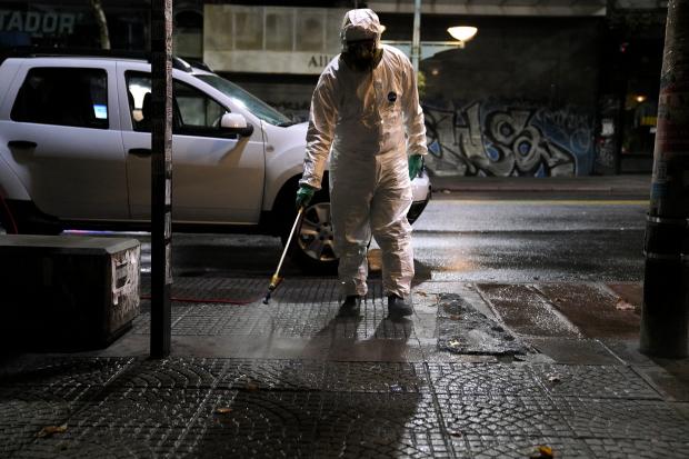 Desinfección de espacios públicos