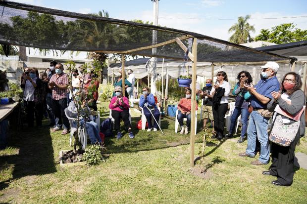 Inauguración de obra en la huerta comunitaria del Barrio Peñarol