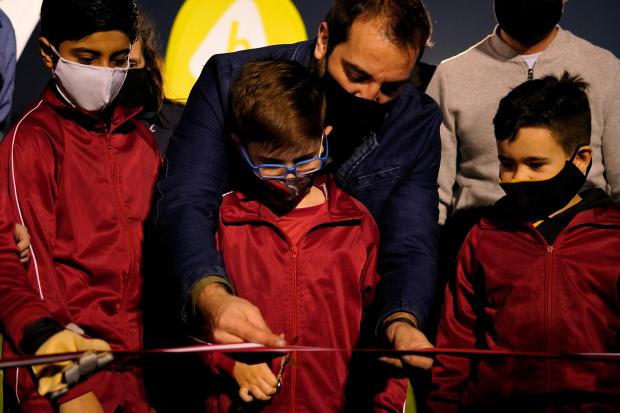 Inauguración de obras en el Club Alas Rojas