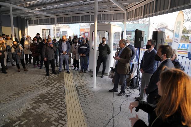 Inauguración de obras en la terminal de Paso de la Arena
