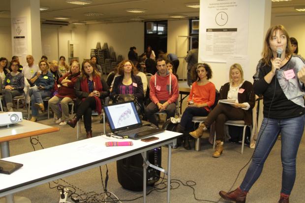 Encuentro de trabajadoras de la im que trabajan en políticas de género.