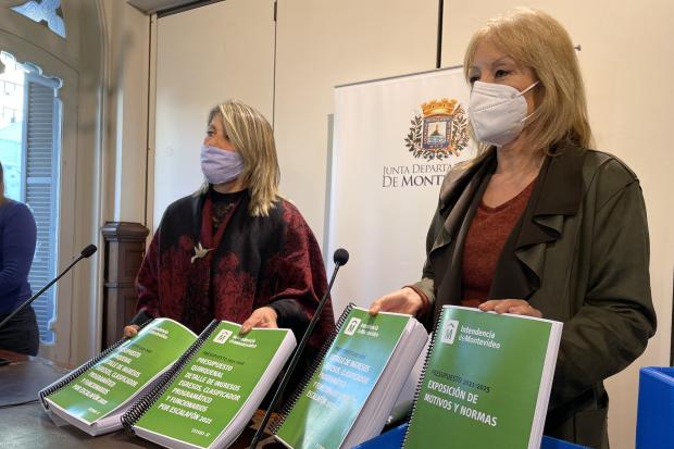Presentación del presupuesto quinquenal ante la Junta Departamental de Montevideo