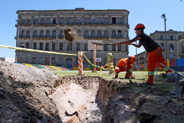 Hallazgos arqueológicos de Montevideo Antigüo