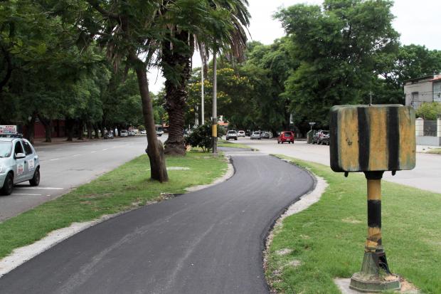 Ciclovía de la calle Ricaldoni