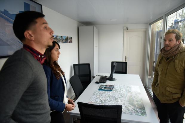 Presentación del Centro de información sobre túnel en Av. Italia