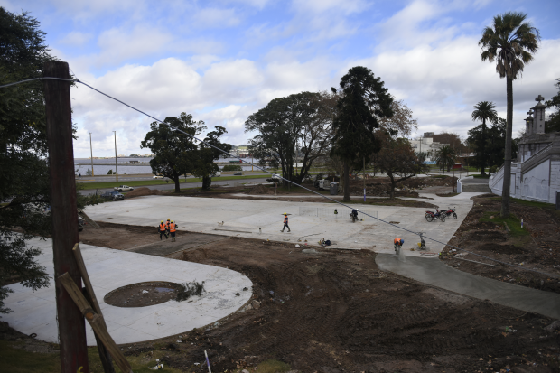Recorrida obras en Parque Capurro