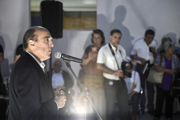 Inauguración del nuevo local de la Biblioteca María Vittori, en el barrio Peñarol