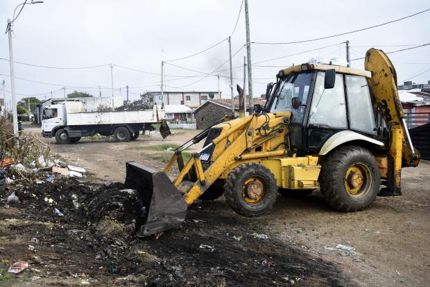 Limpieza en el barrio Aquiles Lanza