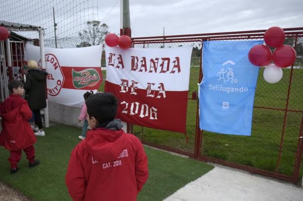 Inauguración de Salí jugando en club Ciclón