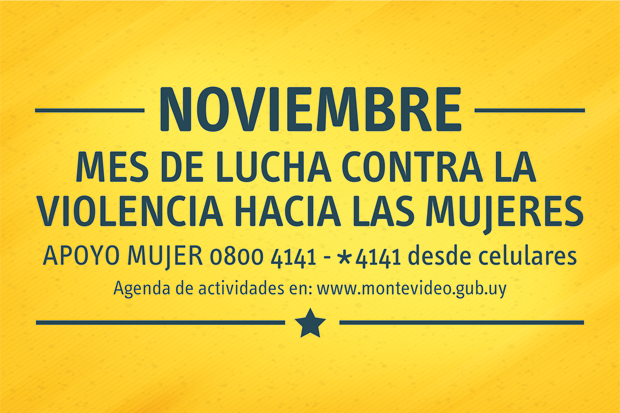 Noviembre, Mes de Lucha contra la Violencia hacia las Mujeres