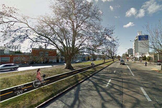 Proyecto de Ciclovía Avenida Italia