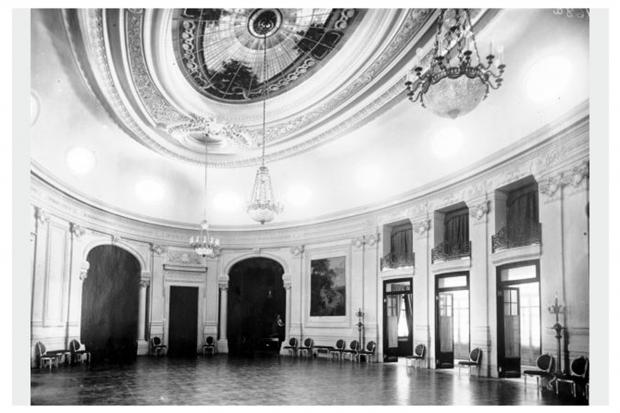 Salón Oval. Piano Nobile. Hotel Carrasco. Año 1921
