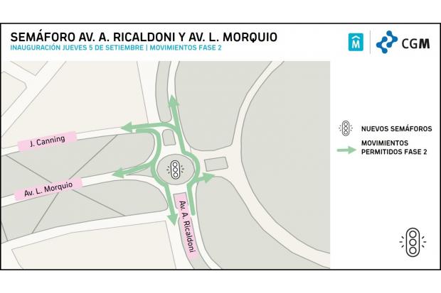 Semaforos Morquio y Ricaldoni fase 2