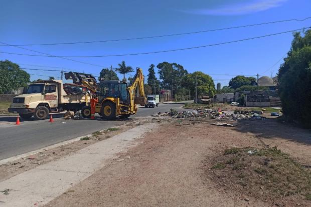 Limpieza de basurales en Cruz de Carrasco Norte